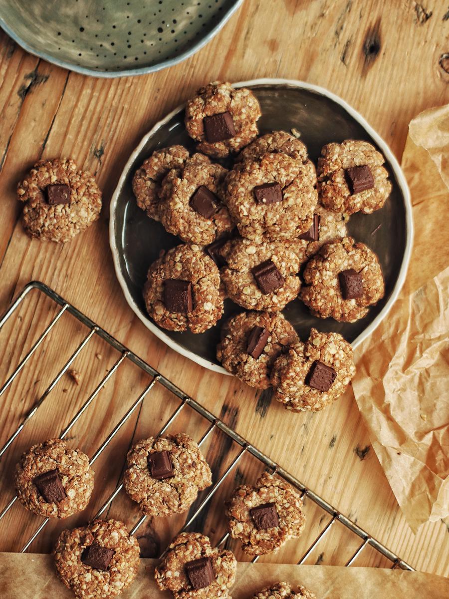 mandeļu šokolādes cepumi bez glutēna vegāniski