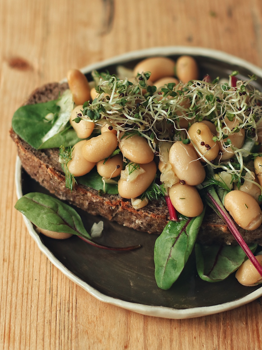 beans on gluten free bread toast